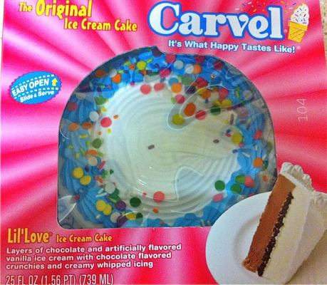 carvel ice cream Carvel ice cream cake - lil' love layers of chocolate and vanilla flavored ice  cream with chocolate flavored crunchies and creamy whip  at harris teeter.