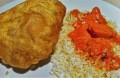 Chicken Tikka Masala, Saffron Rice & Poori from Saffron Indian Bistro in Tucson