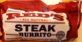 Package of Red's Steak Burrito