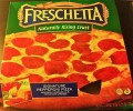 Box of frozen Freschetta Pepperoni Pizza