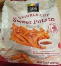 Bag of Whole Foods 365 Everyday Value Crinkle Cut Sweet Potato Fries