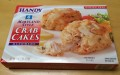 Box of Handy's frozen Maryland Style Crab Cakes