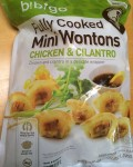 Bag of Frozen Bibigo Mini Chicken & Cilantro Wontons