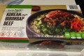 Box of frozen Korean Style Bibimbap Beef from Costco